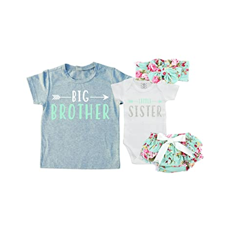 The Spunky Stork Christmas Bear Big Sister Little Brother Matching Siblings T Shirt