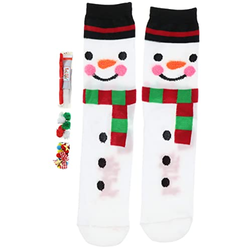 Snowman Sock Fits 9-11 Women/'s Design Your Own Real Ugly Christmas Socks Kit