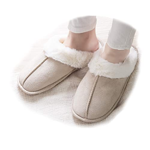 Ladies Slippers Mules Wine Cushioned Indoor Fur Soft Warm Shoes Sizes 4 5 6 7 8