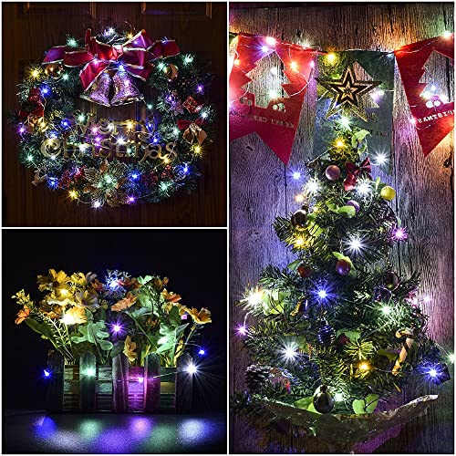 66 FT 200 LEDs Plug in Copper Wire 8 Modes Dimmable Fairy Lights with Remote Timer for Indoor Outdoor Christmas ErChen Dual-Color LED String Lights White//Warm White