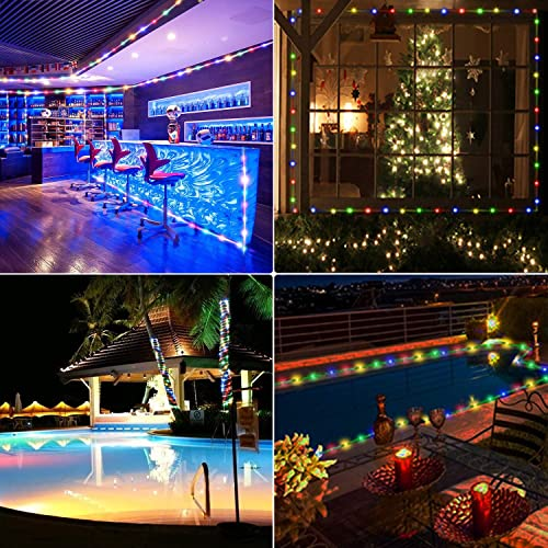 Ielecmg Led Rope Lights Battery Operated Outdoor String Lights 33ft 100leds With Remote 8 Modes 10 Dimmable Timer For Camping Party Garden Holiday Waterproof Decoration Lighting Rope Lights