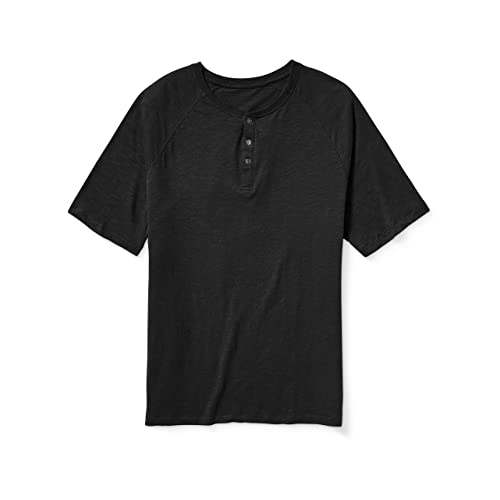 Harbor Bay by DXL Big and Tall Long-Sleeve Slub Henley Shirt