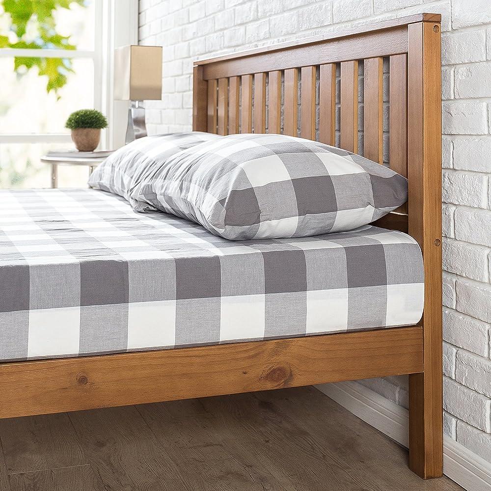Zinus Alexia 12 Inch Wood Platform Bed with Headboard / No ...