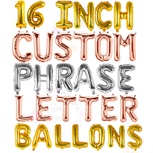 """16/""""//42/"""" CREATE LETTER NUMBER NAME PHRASE FOIL BALLOONS BIRTHDAY SHOWER WEDDING A"""