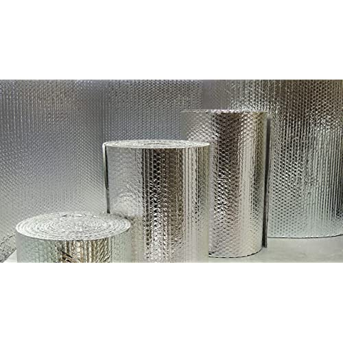 US Energy Products Double Sided Reflective Heat Radiant Barrier Aluminum Foil Insulation Roll: Walls Attics Air Ducts Windows Radiators HVAC Garages More 48 x 200 1//4 Thick R8 Double Poly-Air