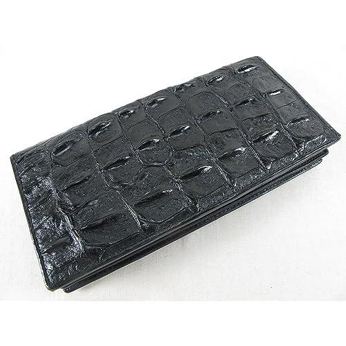 "PELGIO Genuine Crocodile Alligator Belly Skin Leather Men/'s Belt 46/"" Long Black"