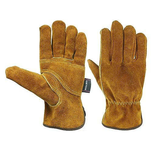 Great Gardenin Premium Goatskin Utility Gloves Leather Work Gloves By Fir Tree