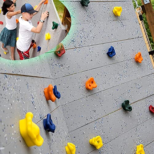 SSBRIGHT Sets of 25 Multi-Colored Kids/&Adults Large Rock Climbing Holds Climbing Rocks for Outdoor Indoor Home Playground DIY Climbing Wall Grip Kits Holds up to 440lbs with Secure Mounting Hardware