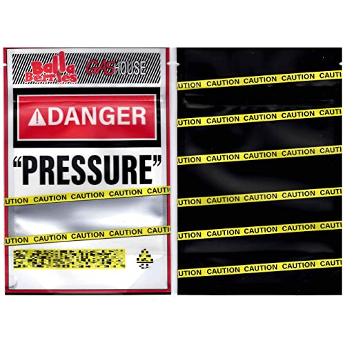 "Balla Berries /""Danger Pressure/"" 10 Pack Bags Gas House 3.5g Mylar Bags"
