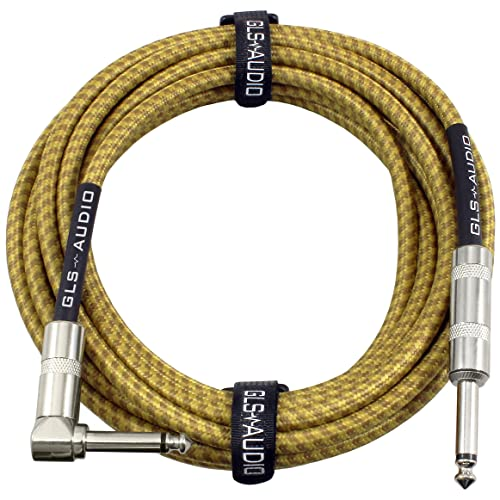 Bass EastRock 1//4 inch Guitar Instrument Cable 10//20 Foot Right Angle to Straight Tweed Cloth Jacket Guitar Cable Input for Electric Guitar Mixing Desks Mandolin Amp 20 Foot Black Keyboard
