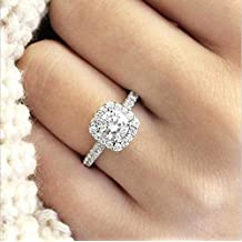 WoCoo Women Ring Bridal Cubic Zirconia Diamond Engagement Promise Rings Jewelry Gift