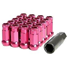 Pink Wheelmate 32901K Muteki SR48 Open End Locking Lug Nut 48mm 12 x 1.25 Set of 4