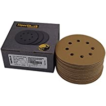 5-Inch 80 Grit 25-Pack POWERTEC 45008 A//O Hook and Loop 8 Hole Disc