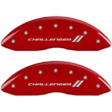 MGP Caliper Covers 10231SSTORD ST Engraved Caliper Cover with Red Powder Coat Finish and Silver Characters, Set of 4