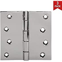 3Pcs Hinges with 24 PCS Screws Heavy Duty. Reversable Technic 4X 4 Satin Finish,Hgs-404025Rs-Sb-32D Pack of 1 s siskcon 4 INCH French Door Stainless Steel Hinges Removable Pin
