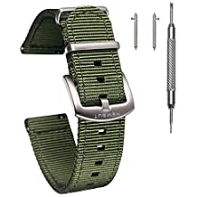 e15d54d7e Torbollo Quick Release Watch Bands - Choice of Color, Width (18mm, 20mm,  22mm or 24mm) - Watch Straps with 1.5mm Thickness, Quality Nylon Strap .
