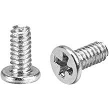 uxcell M1.4 x 4mm Laptop Notebook Computer Screws Phillips Head Screw Silver Tone 2.5mm Dia Screw Head for IBM HP Dell Lenovo Gateway Acer Samsung 50pcs