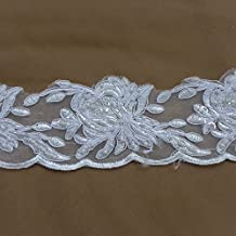New mixed color heavy handmade beads rihestone 60X13 cm embroidered lace trim
