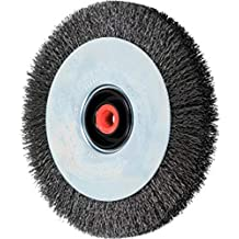 Stainless Steel Wire 8 Diameter 5//8 Arbor Hole 6000 RPM 3//4 Face Width PFERD 80518 Narrow Face Crimped Wheel Brush 0.006 Wire Size 2-1//8 Trim Length