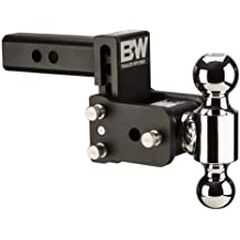 1-7//8 /& 2 Balls, Black for 2 Hitch Receiver Towever 84188 Trailer Hitch Dual-Ball Mount
