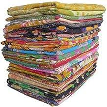 ON SALE indian sari kantha quilt floral kantha quilt bedding Throw Kantha Quilt