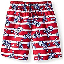 Wonder Nation Dinosaurs /& Volcano Swim Trunk Shorts