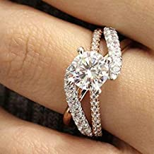 6 Metmejiao Wave Design 925 Sterling Silver Ring Wave Band Ring Fashion Jewelry for Women Girls Gift Wedding Finger Jewelry