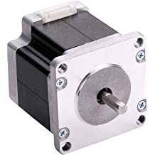 MOONS NEMA 17 Stepper Motor 2 Phase 1.8 Degree Bipolar 1A 0.21Nm 30oz.in 25.3mm Body Compatible with 3D Printer//CNC