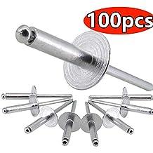 Dome Hd 3//16-1//4 Grip Range All Aluminum Panel Blind Rivets Boltman 5//32 Dia 200pkg