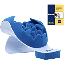Neck and Shoulder Relaxer Neck Support Traction Pillow Cervical Spine Relieve Chiropractic Pillow for Neckbone Muscle Tension Reliever,Shoulder Relaxer Massage Pain Relief