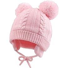 Scarf Set QA/_ Cute Cat Baby Toddler Autumn Winter Warm Round Hat Beanie Cap