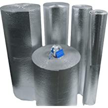 2 Pack 6x25 Reflective Pipe Wrap Sealer Insulation Kit Foam Core w// 15ft Tape R7