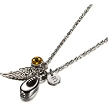 KnSam Ashes Necklaces Stainless Steel Heart Cz Blue Black Pet Claw Silver