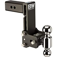 B/&W Hitches TS10037B Tow /& Stow Model 8 5-5.5 Adjustable Dual Ball Mount Hitch and 5//8 Black Receiver Hitch Lock B/&W Trailer Hitches