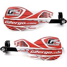 1 1//8 Full Wrap Dirt Bike Handguard by G2 Ergonomics 7//8 White Renthal Twinwall//MIKA Raw//Pro Series