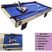 Tabletop Billiards Game Mini Snooker Pool Table Set with Triangle Frame Ball Sticks VGEBY Mini Pool Table Balls