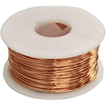 32 FT.HALF HARD COIL SOLID BARE COPPER MADE IN USA COPPER WIRE  16 GA  1//4 LB