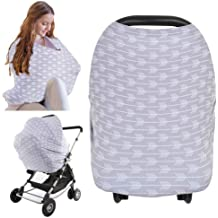 Lamavido Car Seat Canopy Nursing Cover Baby Car Seat CoversShopping Cart Nursing Cover for Breastfeeding High Chair Stretchy Infinity Scarf Cover Up Baby Shoewer Gifts Stroller for Girls