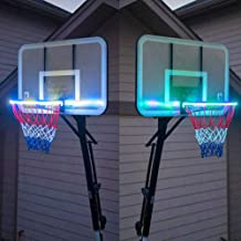Perfect for Outdoor Basketball at Night oppum LED Light Up Basketball Hoop Lights Basketball Rim LED Solar Light and Kids Adults Training Games
