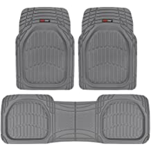 Full Set Trim to Fit Brown 3 Piece TISHIJIE Full Set Floor Mats for Cars SUV Van and Truck Universal All-Weather Protection