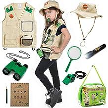 Alpha Nova Kids Outdoor Exploration Kit w// Premium Explorer Gear for Girls and Boys 3+ Years Old Extendable net Flashlight Childrens Camping Gear and Nature Set Bug Catcher Binoculars