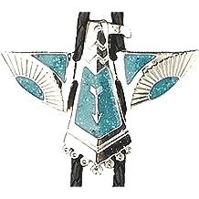 Northern Cardinal Red Pine Perch Western Southwest Cowboy Necktie Bow Bolo Tie
