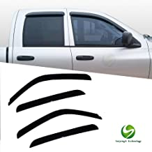 LQQDP 4pcs Front+Rear Smoke Sun//Rain Guard Window Visors Fit Chevy//GMC//Cadillac 00-06 Suburban Yukon XL 02-06 Avalanche Escalade ESV//EXT 99-06 Silverado Sierra 07 Classic Body Crew Cab