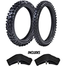 """ProTrax Motocross Offroad Front 80//100-21/"""" /& Rear 120//80-19/"""" Tire /& Tubes Combo"""