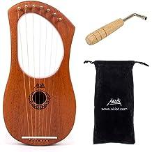New Lyre Harp Rosewood 8 Metal String with free bag/&key set of string