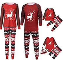 kaiCran Mommy and Me Dinosaur Pajama Outfits Sets Cartoon Tops+Pants Cute Family Matching Outfits