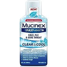 Mucinex Fast Max Clear Cool Cold Flu Sore Throat Liquid 6oz