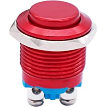 Twidec 16mm Waterproof Stainless Steel Metal Shell Momentary Raised Top Push Button Switch 3A//12~250V SPST 1NO Start Button for car modification Switch M-16-T-G