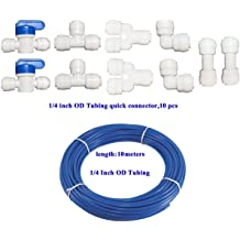 Yoohey Straight Push Fit Quick Connect Water Tube Fitting Pack of 10