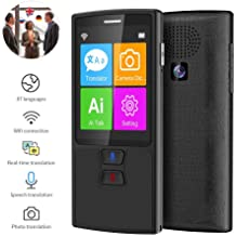 Real Time Two-Way Instant Offline Languages Translator Device WiFi 4G 2.4 Inch Touch Screen Support 137 Languages and Photographing Translation MOGOI Smart Voice Translator Device